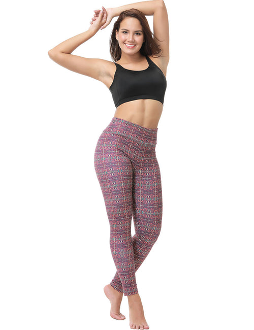 Distinct Skinny Printed Seamless Ankle Trousers Best Materials