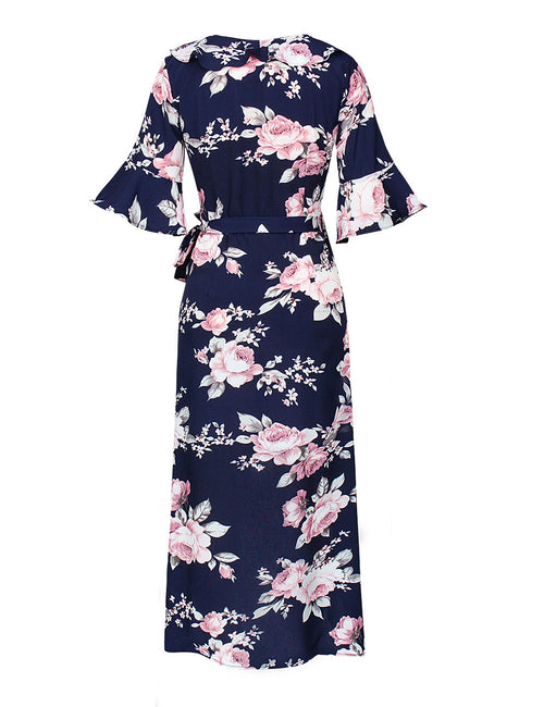 Distinctive Kimono Slip-On Print Dress  Half Sleeve Shop Online