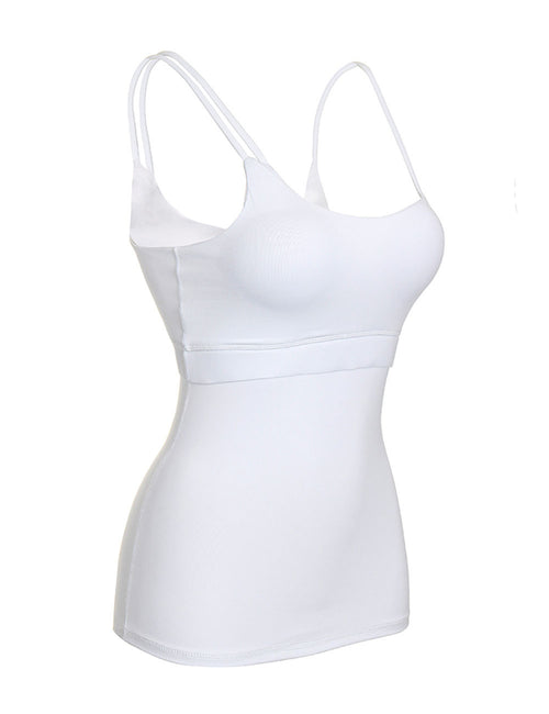Distinctive Spaghetti Straps Gym Sleeveless Garment Feminine Fashion Style