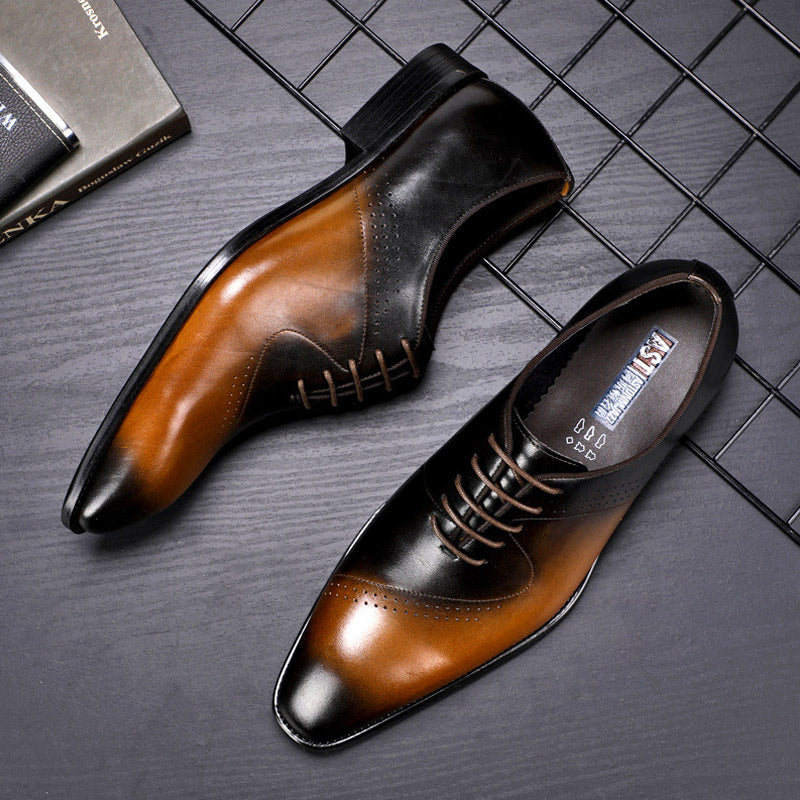 Bullock Carved Business Shoes