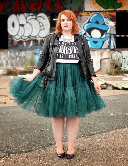 Pleated Ruffles Knee Length Tutu Skirt
