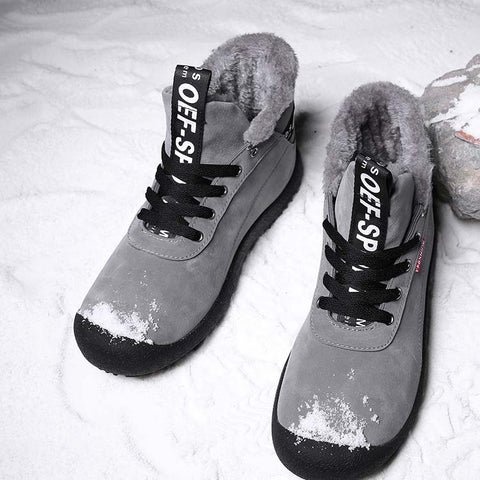 High Quality Snow Men Ankle Boot Lace Up With Fur