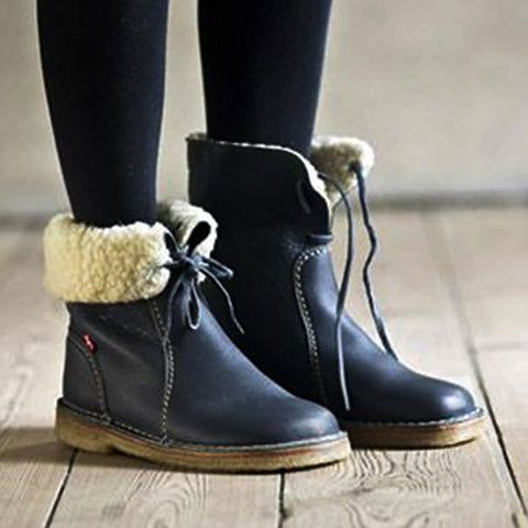 Winter Warm Plush Ankle Boots