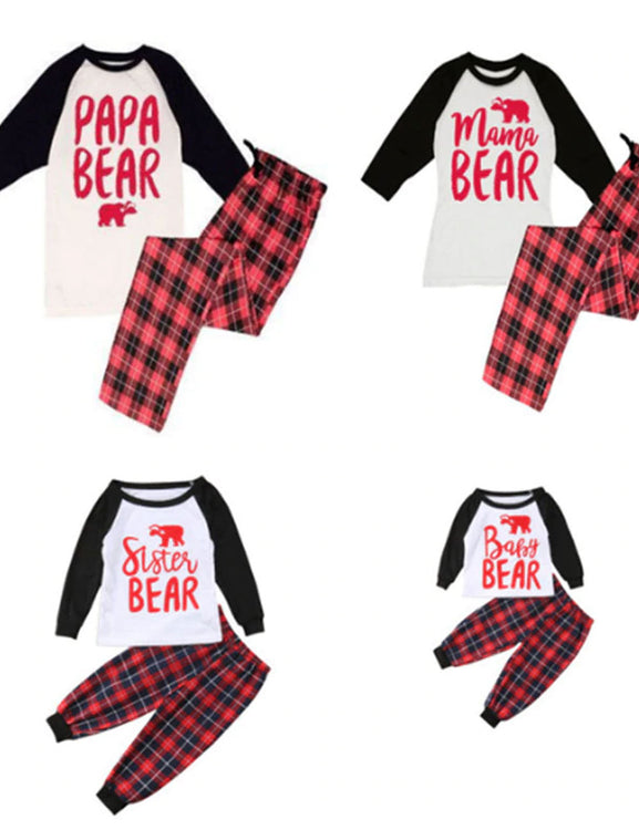 Christmas Family Matching Pajamas Set Women Men Baby Kids