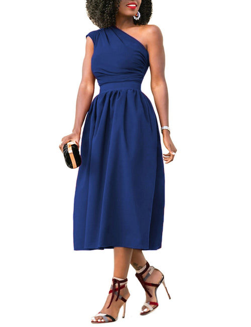 Energetic Fittted Waist Midi Dress With Pocket Seamless