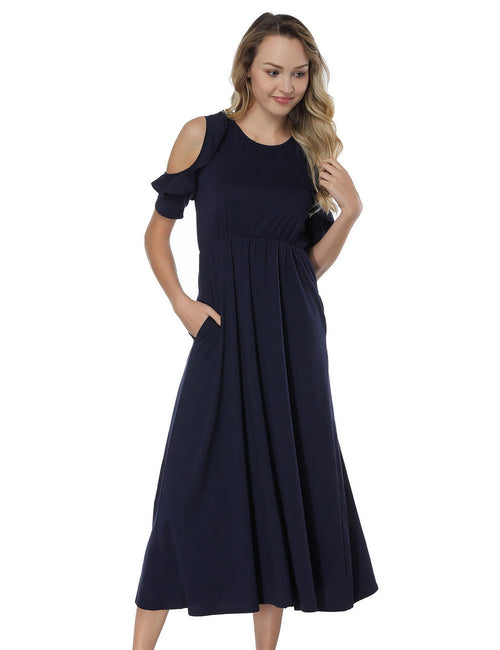 Enthralling Cold Shoulder Midi Dresses Flounce For Every Occasion