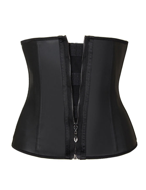 Enthralling Large 9 Steel Bone Latex Waist Cincher Back Support