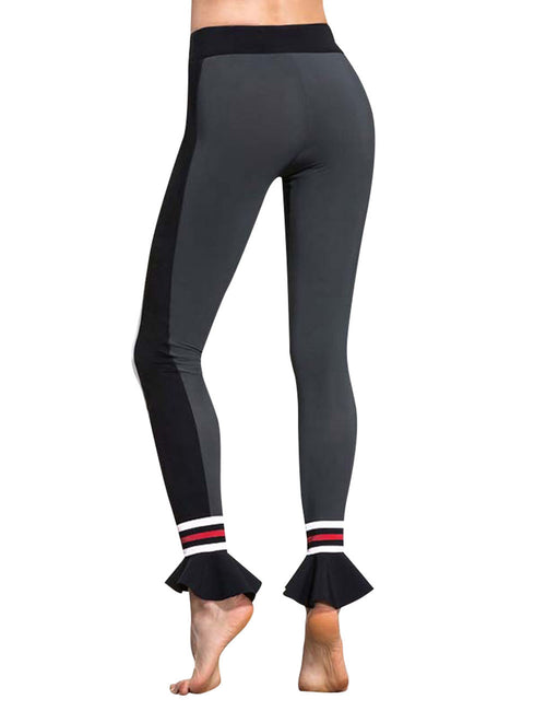 Enviable Elastic Waistband Ruched Ankle Workout Pants Nice Quality
