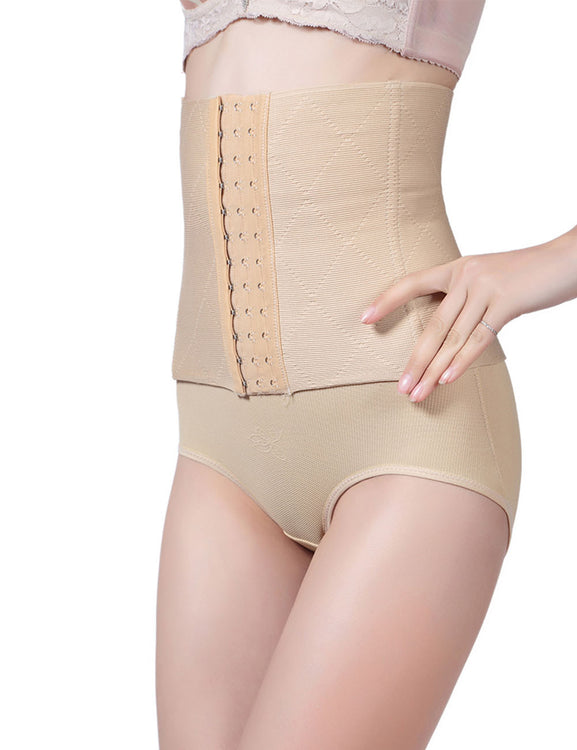 Exquisitely Large Size 4 Bones Postpartum Waist Cincher Front Hooks Slimming Belly