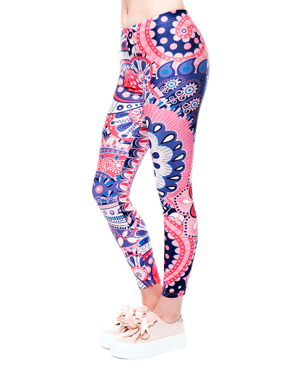 Eye Catching Blossom Printed Bottoms 3D Digital Chic Trend