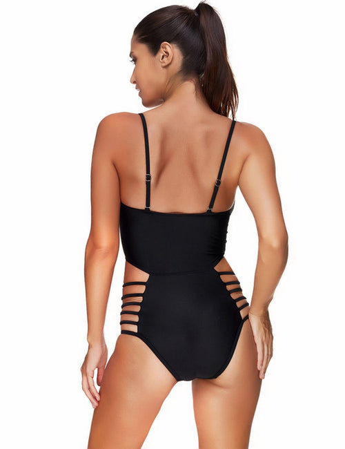 Fabulous Cutout Strappy Side One Piece Swimsuit Super Sexy