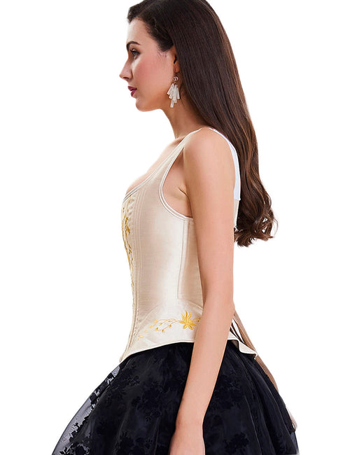 Fabulous Fit 10 Plastic Bones Lace Up Closure Corset Overbust Classical Couture