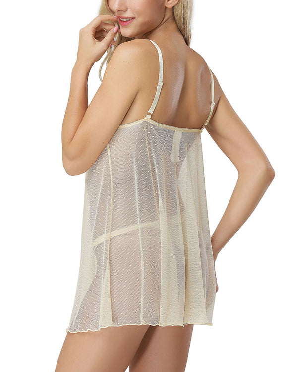 Fitness Lace Trim Babydoll For Romans
