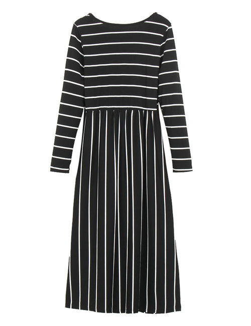 Flattering Round Neck Ruching Waist Midi Dress Fast Shipping