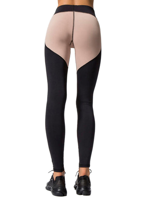 Flexible Color Block Tights Superior Quality