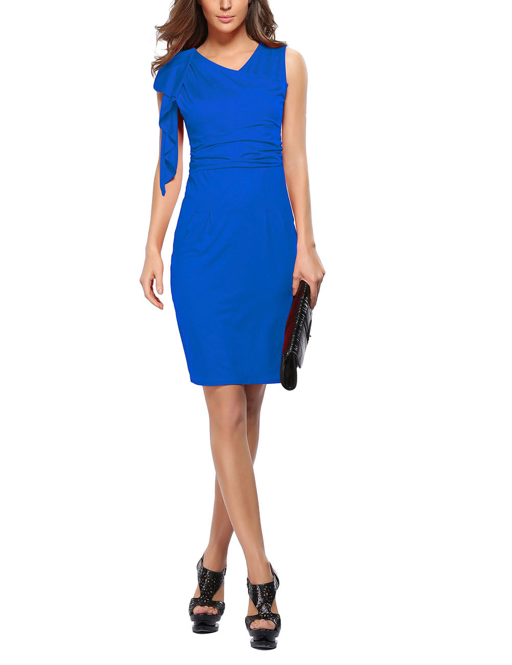 Flirtatious Big High Rise Tight Dress Mini Length Outdoor