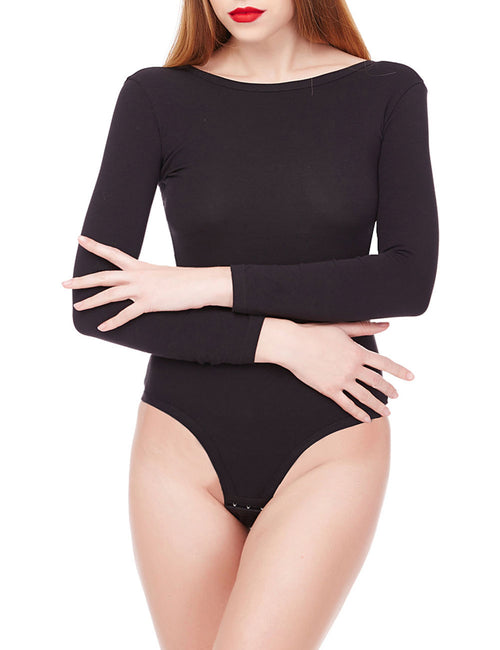 Flirty U Back Bodysuit Long Sleeve For Shopping