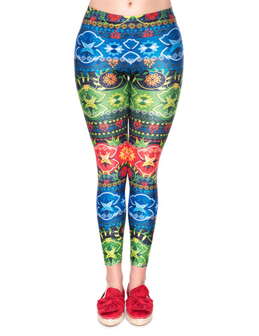 18b904b905811 Foggy Colorful Print Yoga Pants Mid Waist For Traveling. $20.59. Artisan  Long 92 Polyester 8 Spandex Leggings Women Fashion