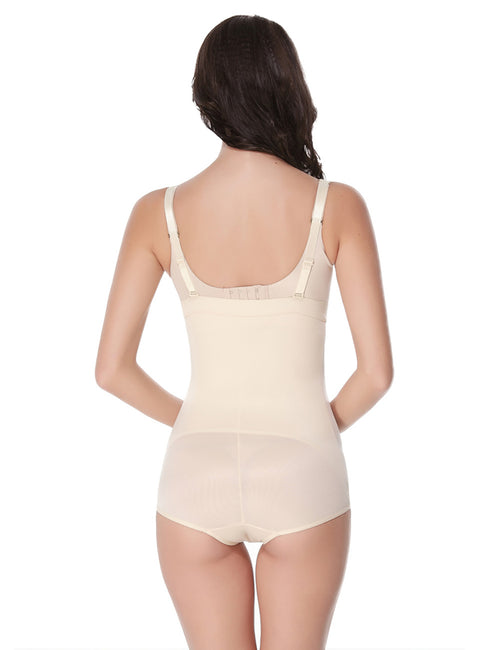 Functional Detachable Straps Zipper High Waist Body Shaper Shapewear