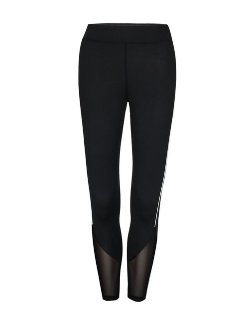 Funny Long Mesh Hemline Stitching Leggings All Over Smooth