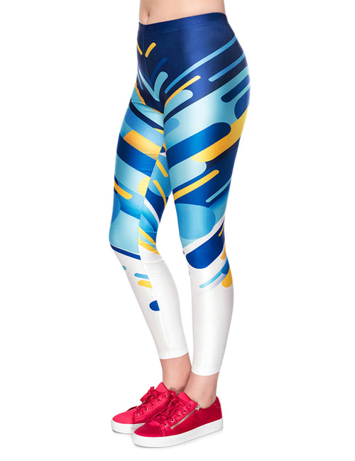 Girls Digtal Simple Print Legging Tight Fit Women Fashion