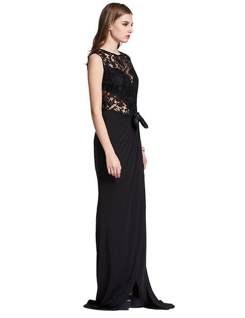 Gorgeous Backless Black Long Formal Evening Dress Thigh-High Slit Heartbreaker