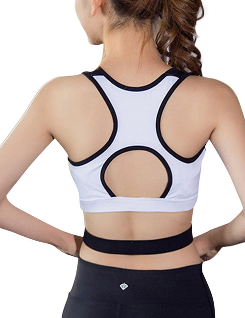 Gorgeous Zipper Front Fitness Crop Top Wireless Aerobic Activities
