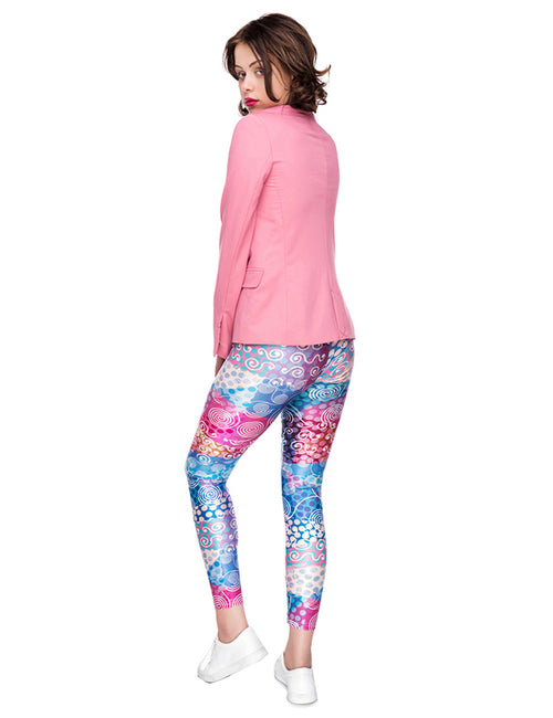 High Elasticity Mid Rise Digtal Print Cropped Legging Latest Fashion