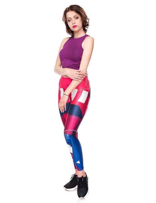 High Grade 3D Digtal Print Cropped Pants Tight Fit Unique Fashion