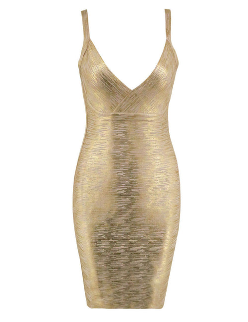 Hot Stuff Bodycon Slip Dress Plunge Neck Zipper Back Stunning Style
