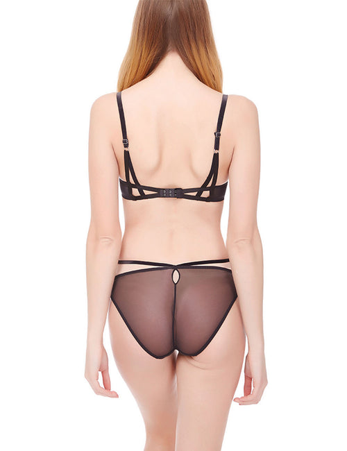 Incredibe Embroidery Lace Lingerie Set 3/4 Cup Delightful Garment