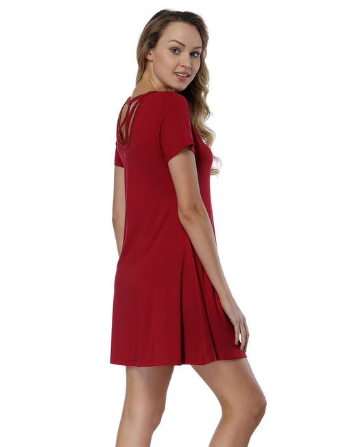Incredible Bamboo Fiber Mini Dresses Cut Out Superior Comfort
