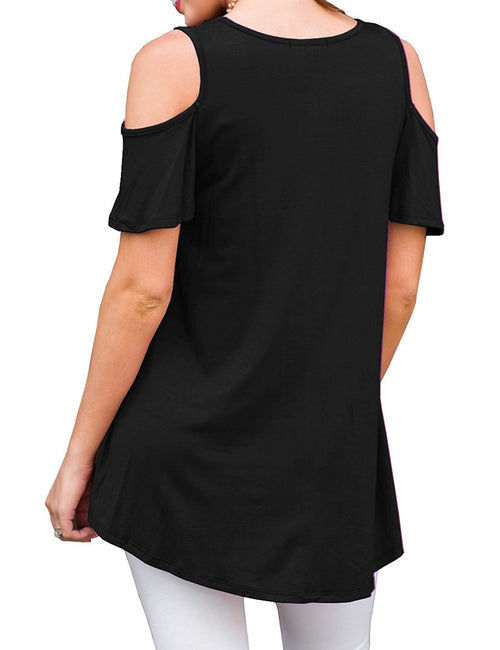 Inspired Loose Fit T Shirt Short Sleeves Womens Clothes