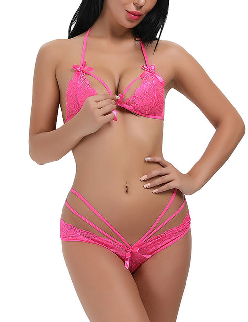 Intriguing Plunging Neck Bra Sets Romantic Night
