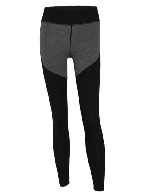 Inviting Patchwork Yoga Tights Wide Waistband Female Fashion