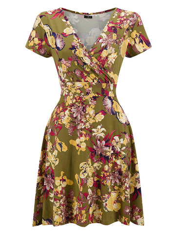 Vibrant Pleated Sash Cocktail Dress Queen Size Superior Comfort