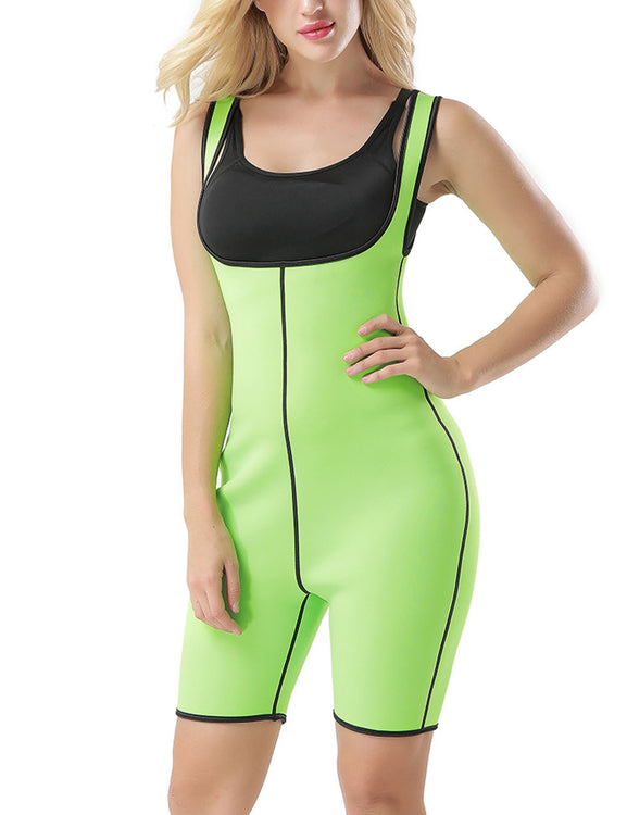 Kinetic Large Mid-Thigh Bodysuit Shaper Open Bust Tummy Trimmer