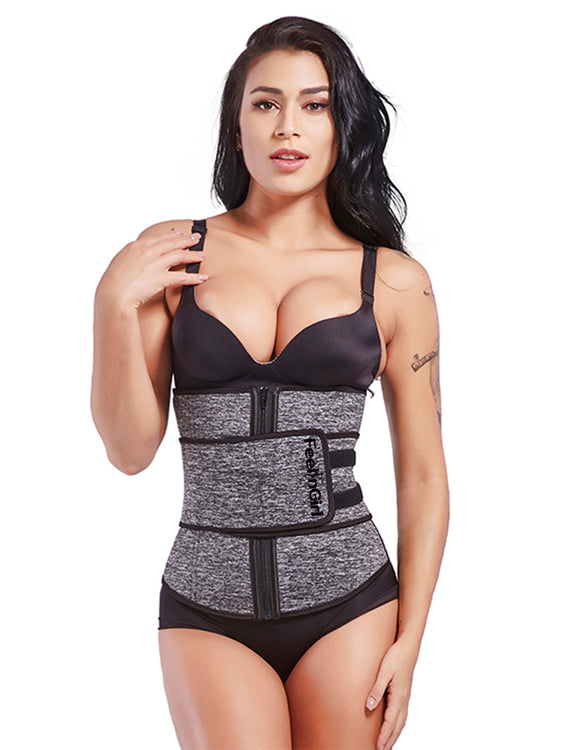 Ladies Velcro Closure Plus Neoprene Waist Cincher Visual Effect