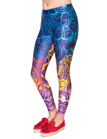 Leisure 3D Print Gym Legging Mid Waist Free Time