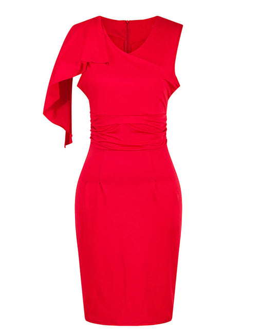Lively Bodycon Shoulder Attached Layer Dress For Work