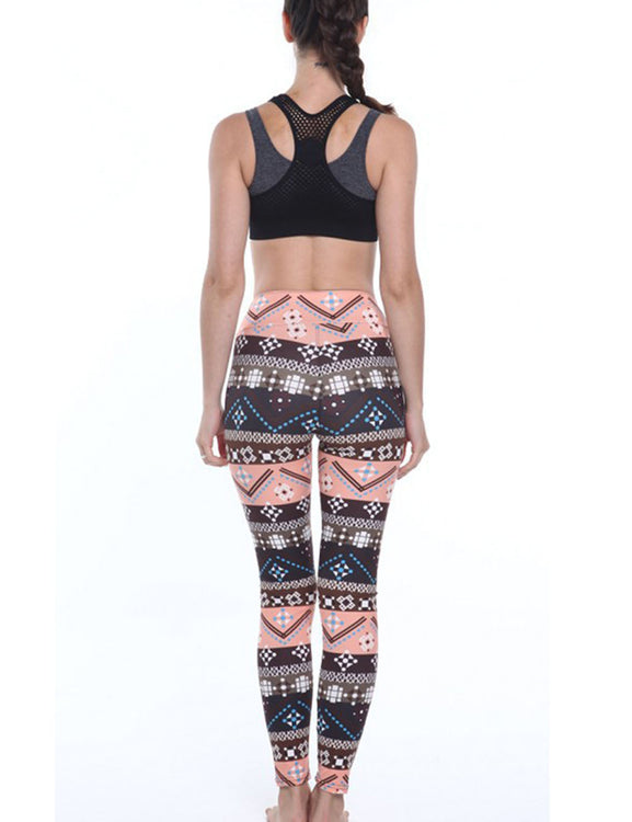 Magic Printed Brushed Tights Flat Waistband