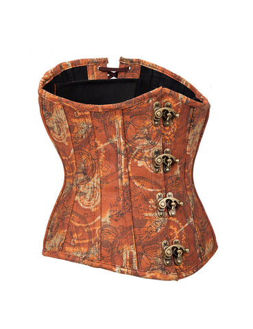 Marvelous Brass Clasp Underbust Corset Crossover Back Unique Fashion