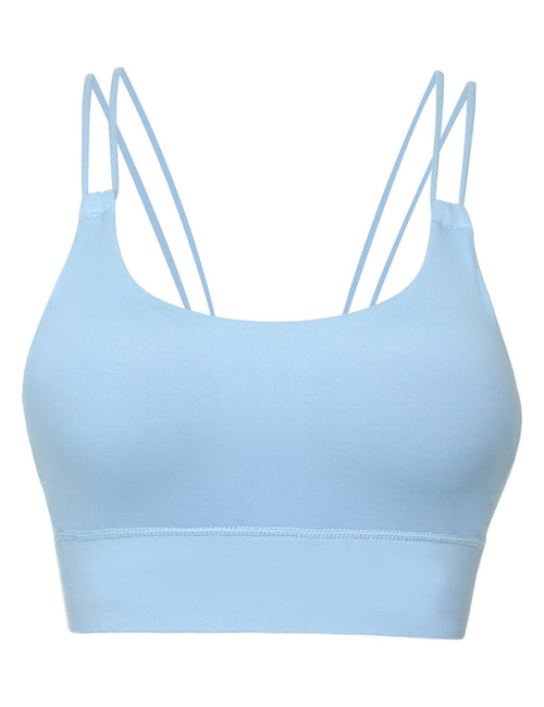 Modern Ladies Moisture Wicking Strappy Workout Yoga Bra For Strolling