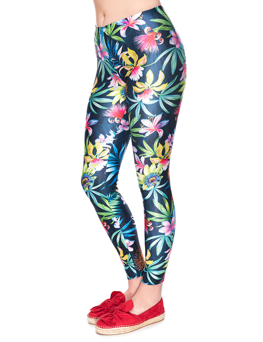 National Floral Print Yoga Pants 3D Technology Outdoor