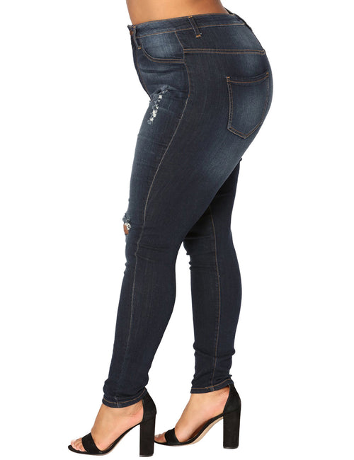 Naughty Distressed Cutoffs Leggy Jeans Big Size For Upscale