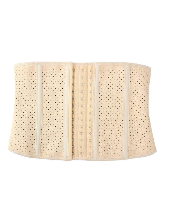 Nude 9 Steel Bone Rubber Queen Size Waist Girdle 3 Rows Hooks Flatten Tummy