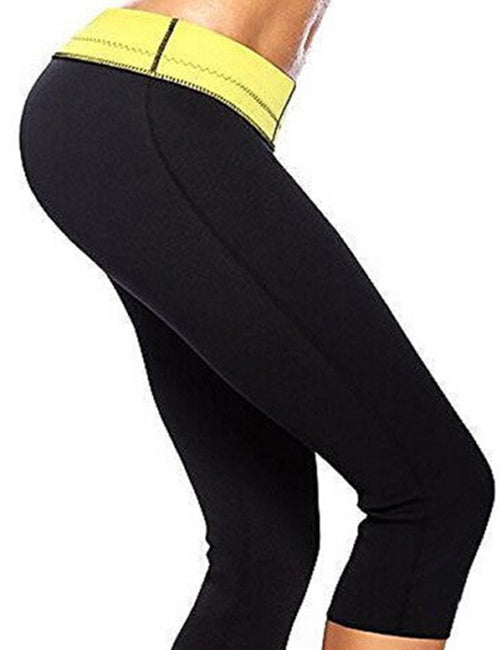 Black Neoprene Tight Fitness Pants