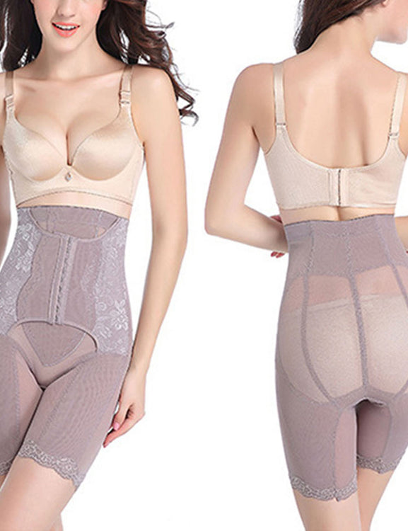 Particularly Plus High Rise Butt Lifter Lace Trim Hooks Waist Trimmer