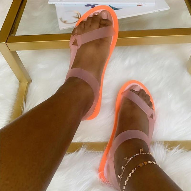 Women Casual Soft  Jelly Beach Sandals