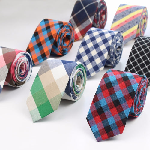 Fashion Classic Men's Plaid Necktie